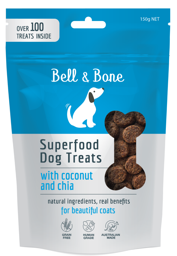 BELL & BONE Superfood Dog Treats with Coconut & Chia 100g