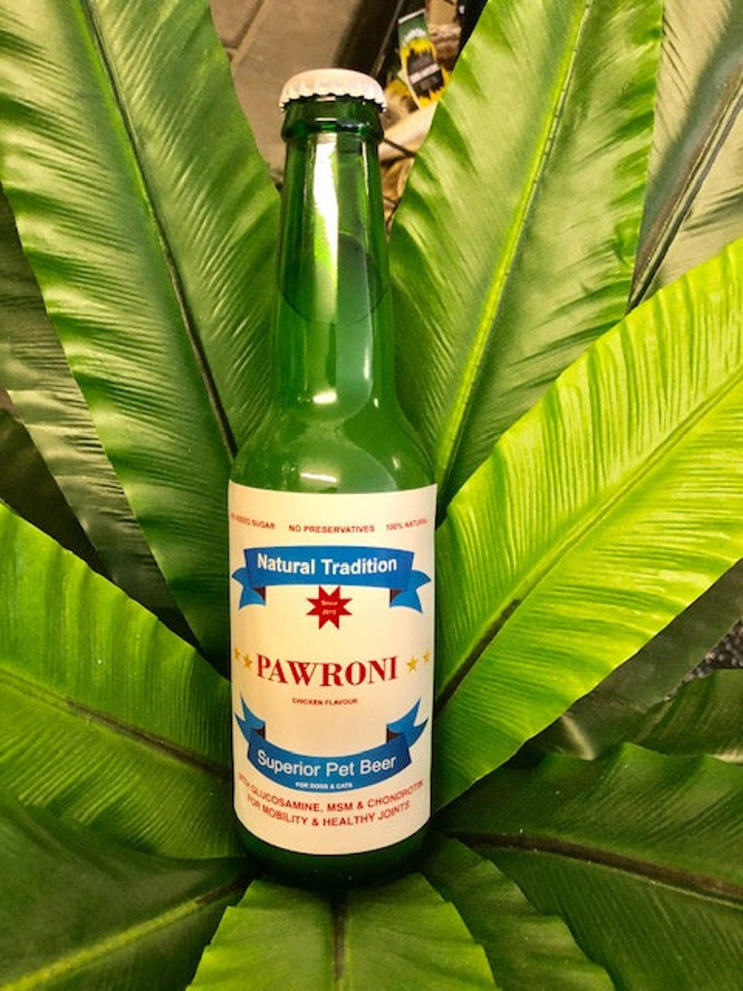 Pawroni Dog & Cat Beer Bottled