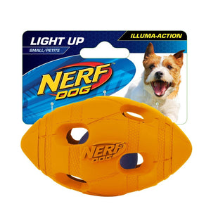 "NERF 4""-SMALL LED Bash Football (Light-Up Orange)"