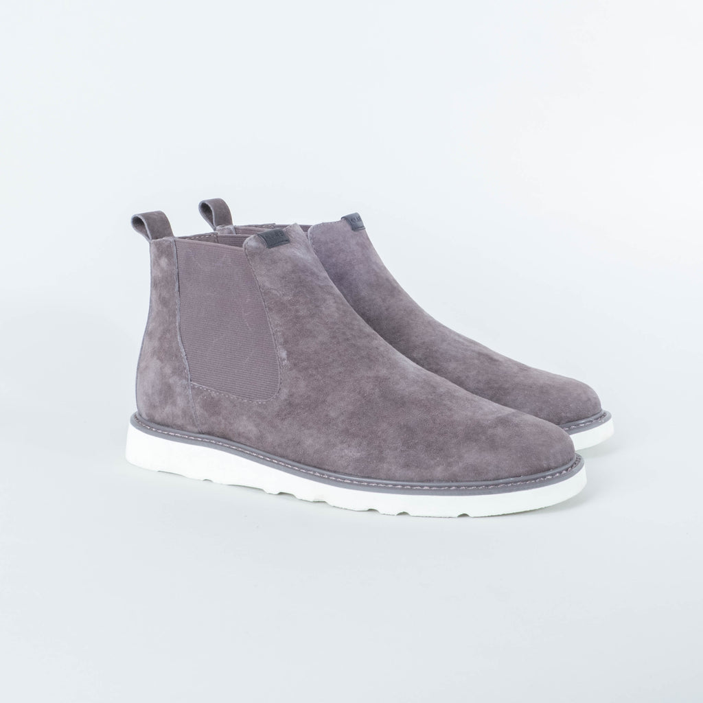 Clae - Richards Vibram Dark Charcoal Suede Cream