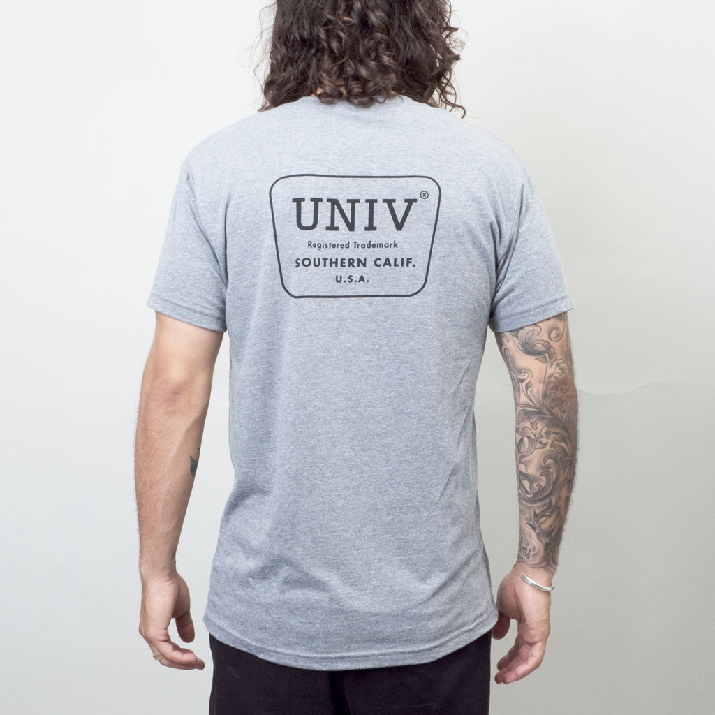 Univ - Logo Tee Heather Grey