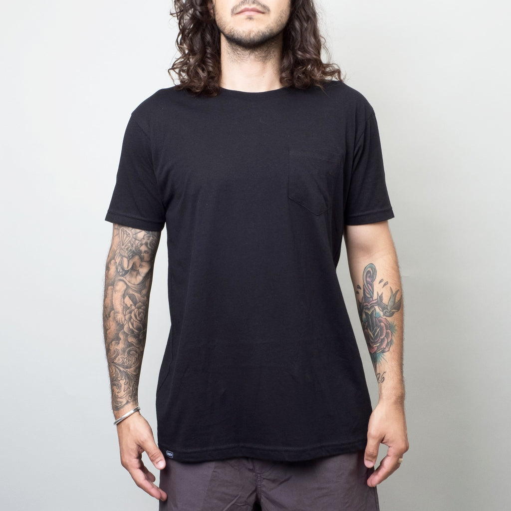 Univ - Pocket Crewneck Tee Black