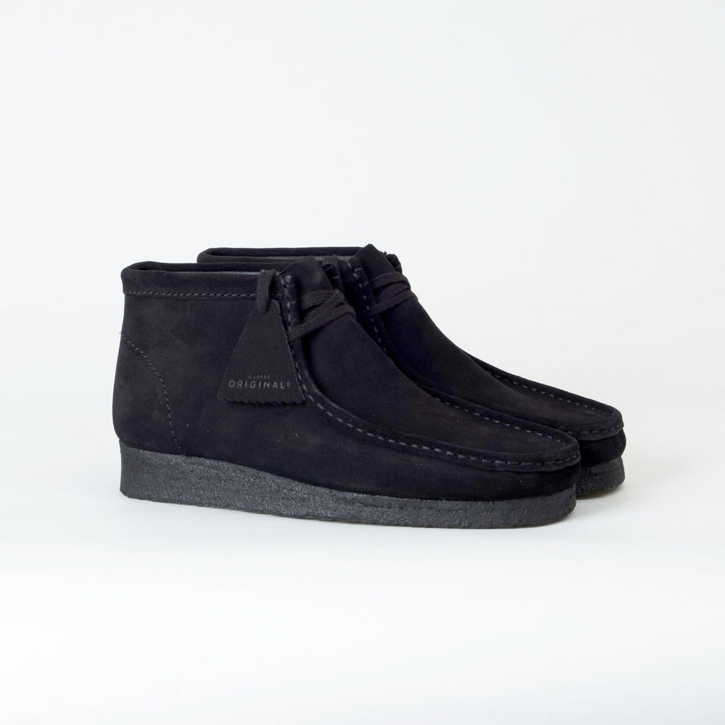 Clarks - Wallabee Boot Black Suede