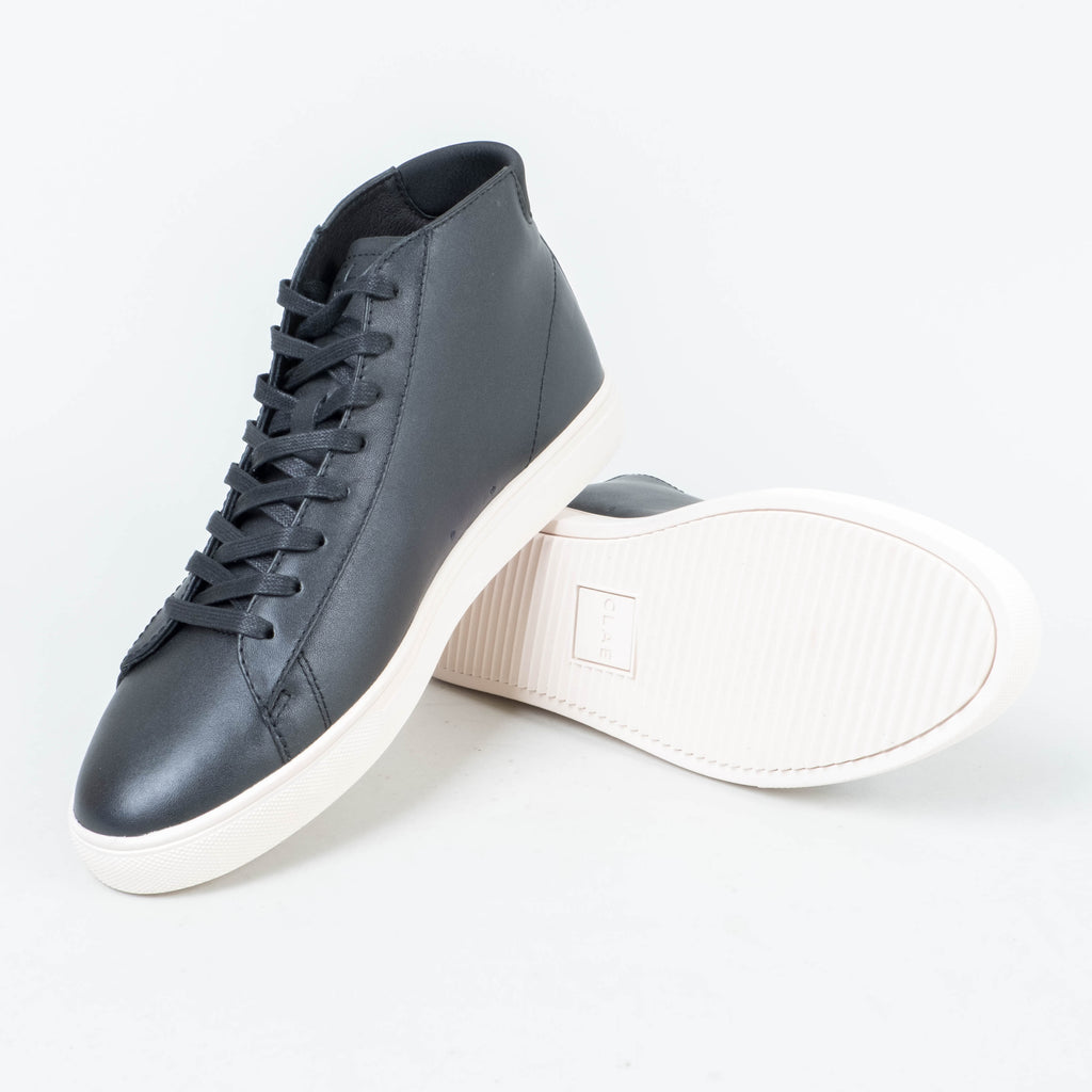 Clae - Bradley Mid Black Milled Leather