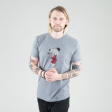 Univ - Mascot Tee Heather Grey