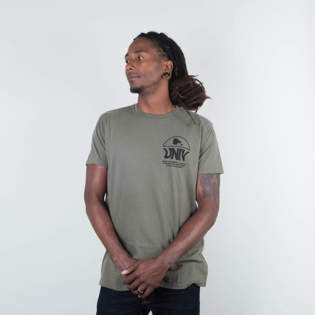 Univ - Info Graphic Tee Olive
