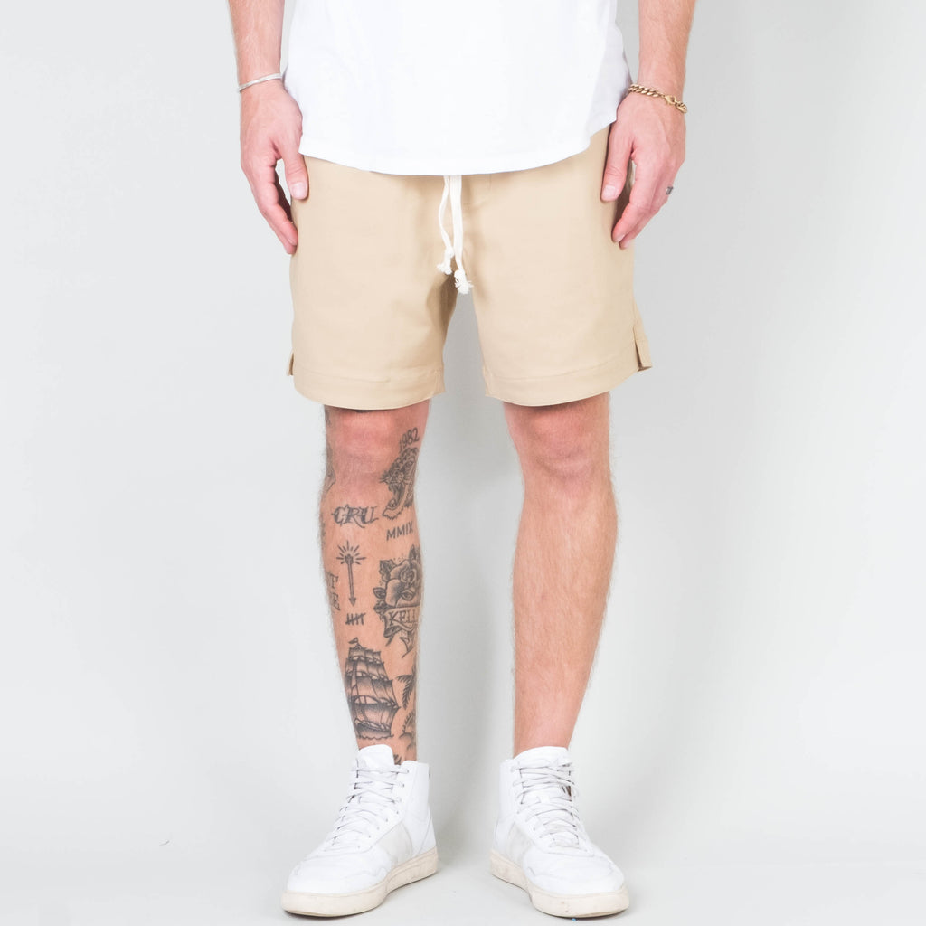 Univ - Stretch Twill Short Tan