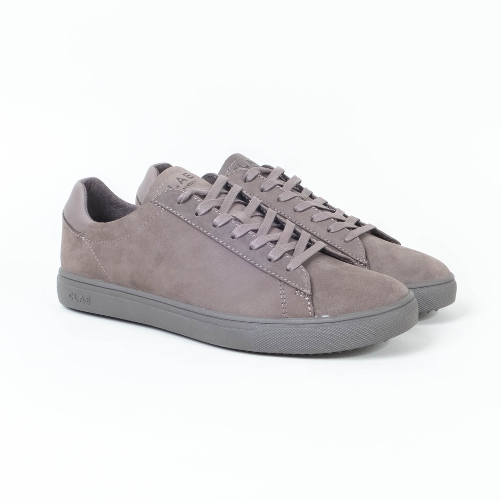 Clae - Bradley Low Dark Charcoal Nubuck