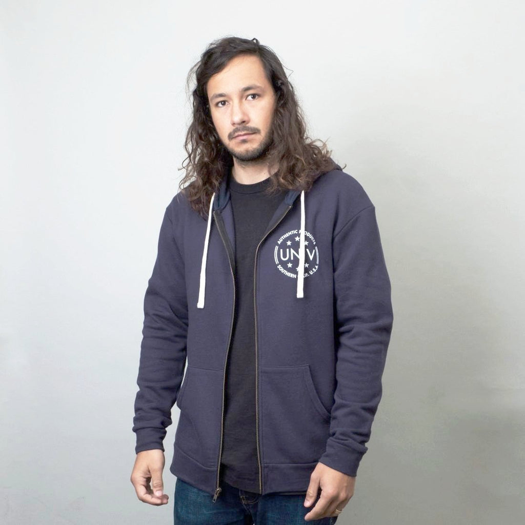 Univ - Authentic Zip Hoodie Navy