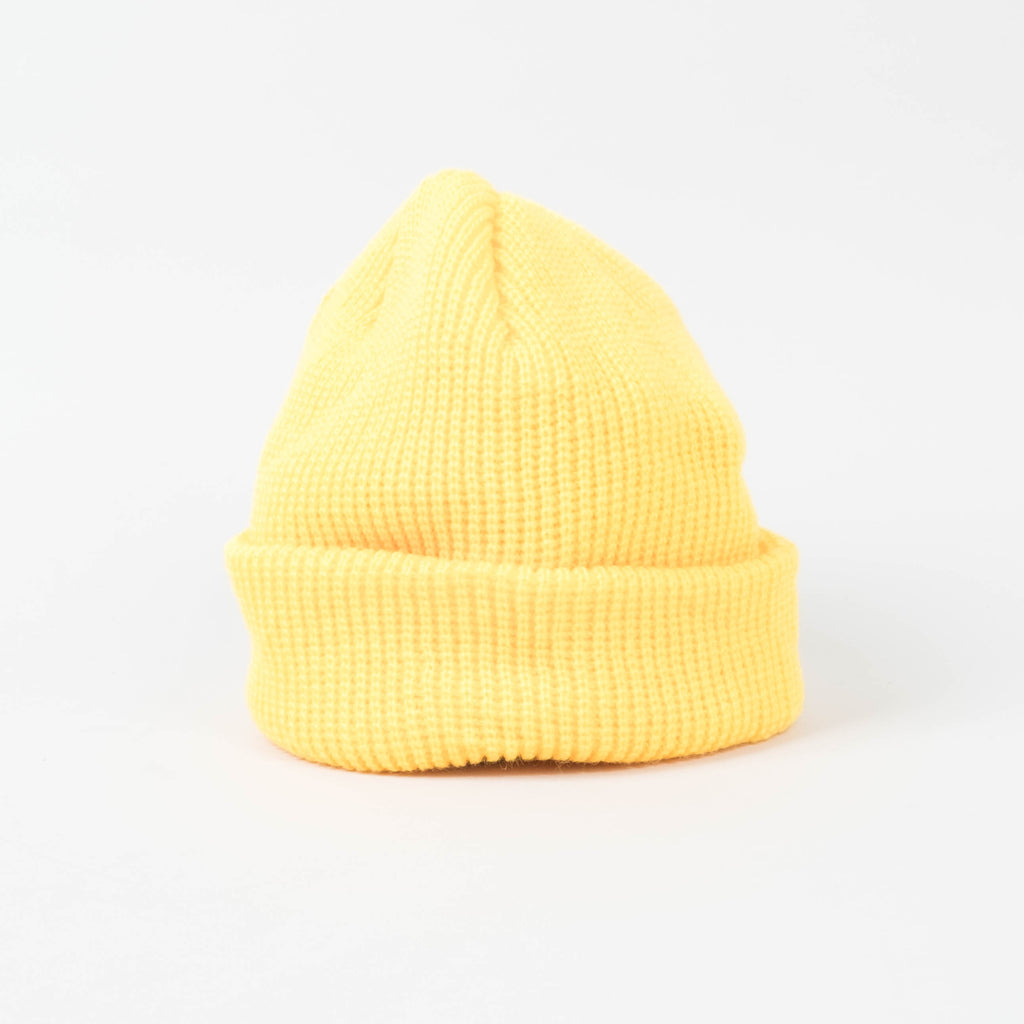 UNIV - Fisherman Short Cuff Beanie Canary Yellow