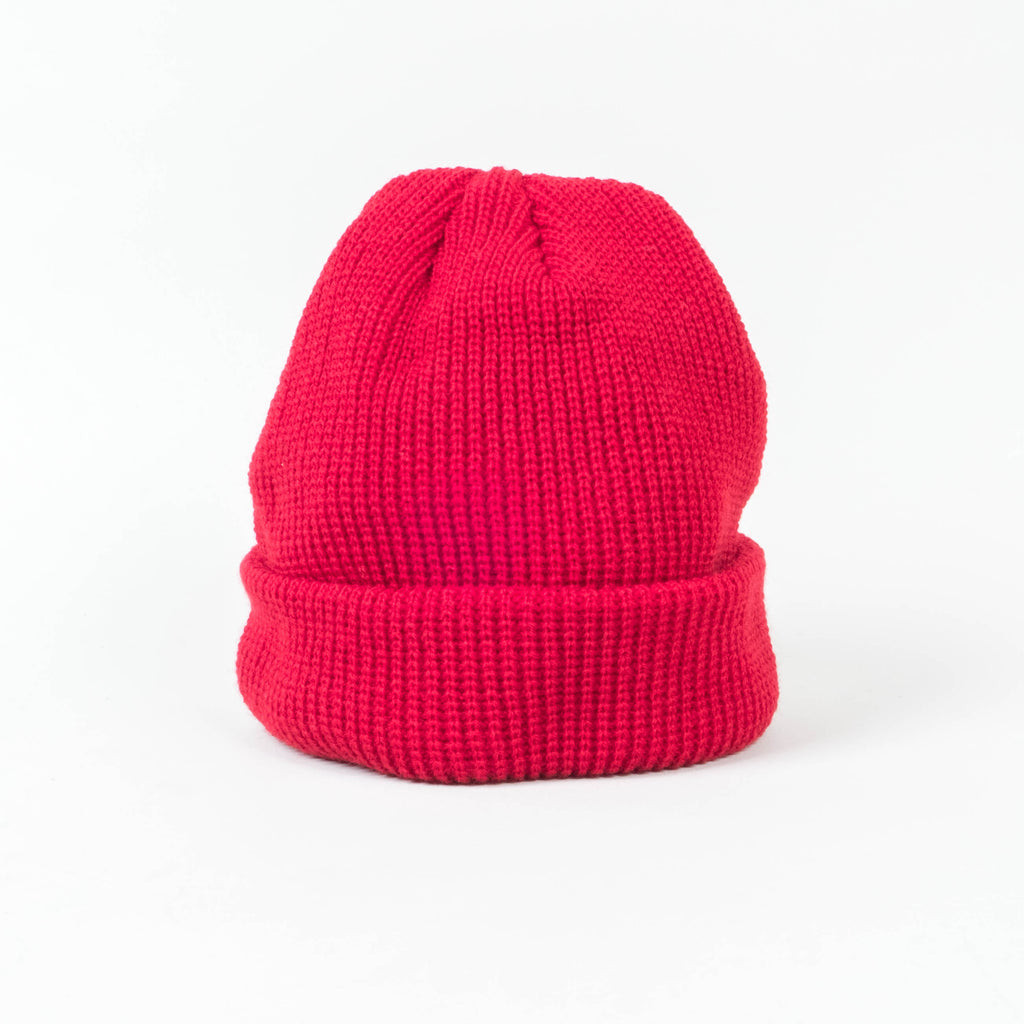UNIV - Fisherman Short Cuff Beanie Brick Red