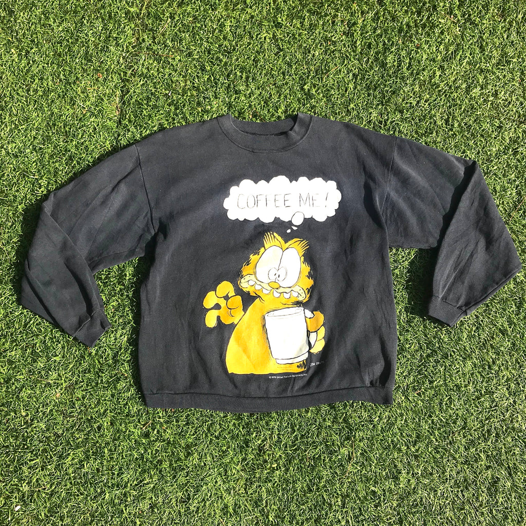 Montage Vintage - 1978 Vintage Garfield Coffee Time Crewneck