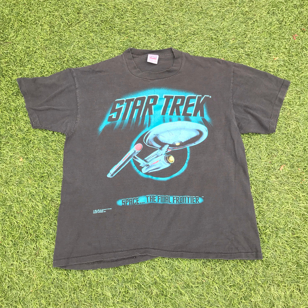 Montage Vintage - Star Trek Final Frontier Tee Black