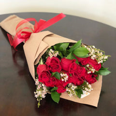 C6990 - Wrapped Red Rose bouquet