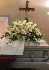 C3961 - White Funeral Casket