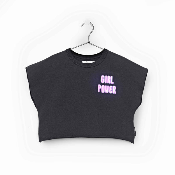 """GIRL POWER"" FLEECE TOP"