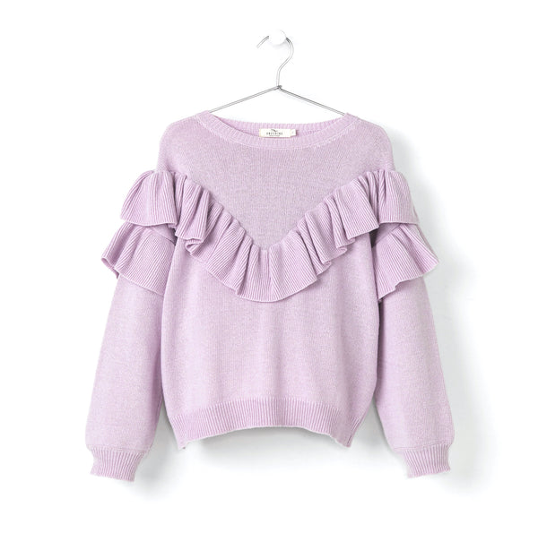 RUFFLED KNITTED SWEATER
