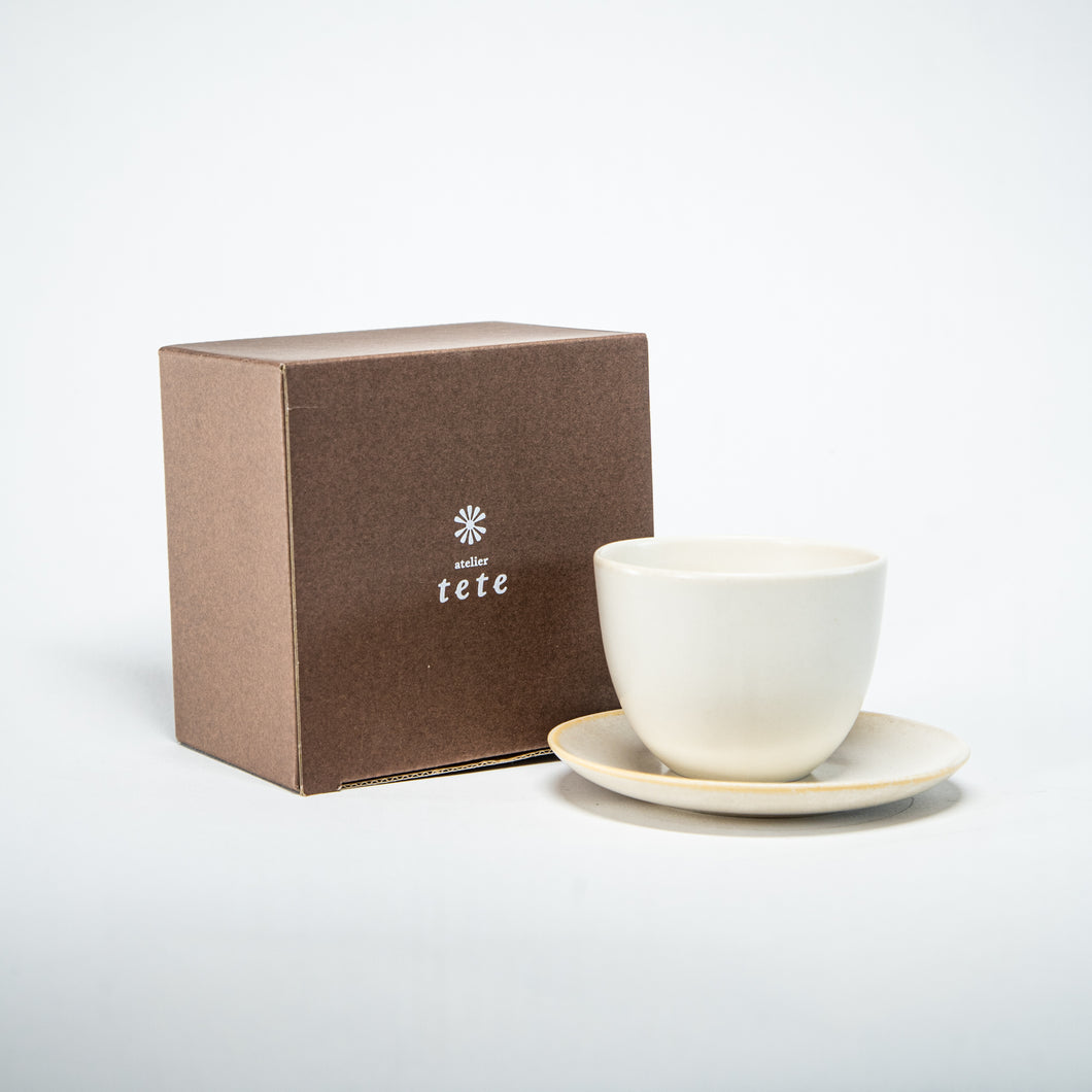 Tete: Pebble Cup & Saucer