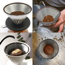 Load image into Gallery viewer, Reusable pour over filters - 6 Cup Size - Chemex & Hario V60