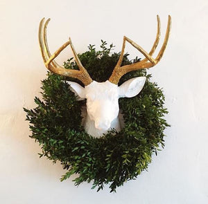 Faux Taxidermy Christmas Decor