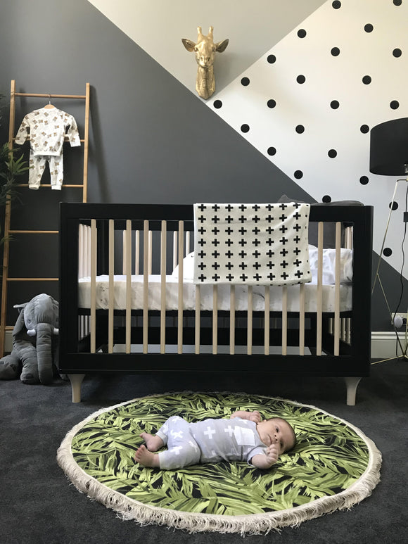 Modern Spin on Jungle Safari Baby Nursery