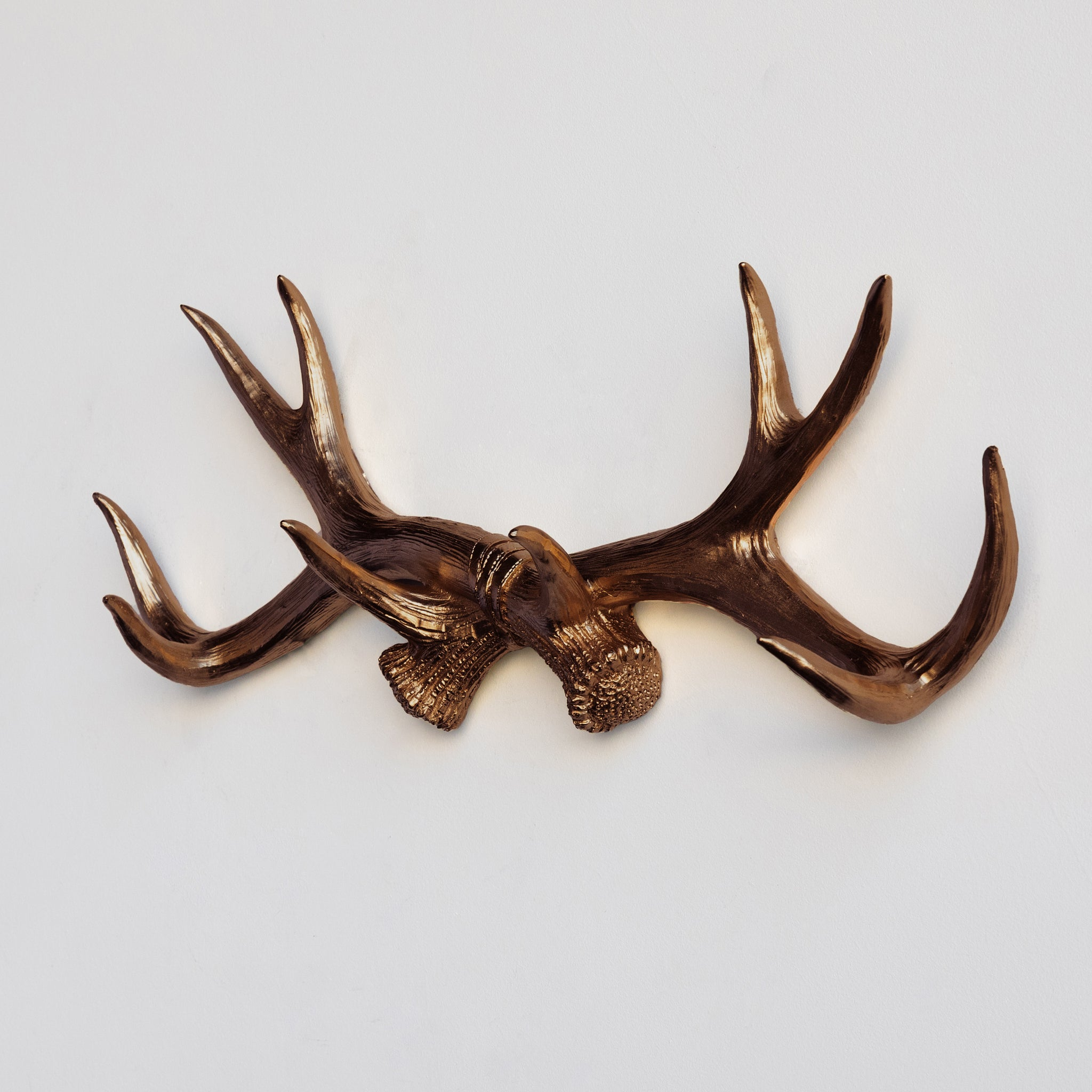 Faux Deer Antler Wall Hook // Bronze