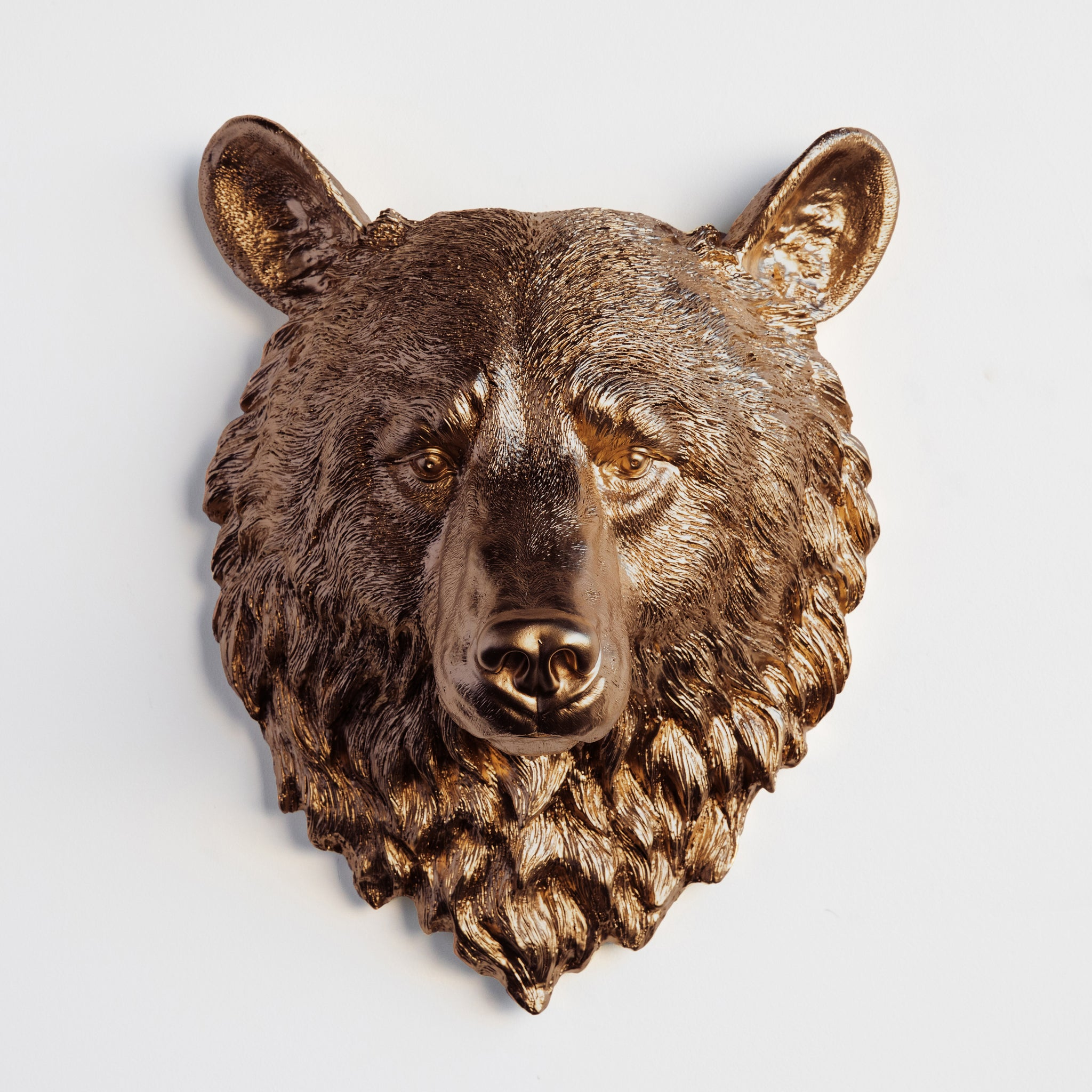 Faux Bear Head Wall Mount // Bronze