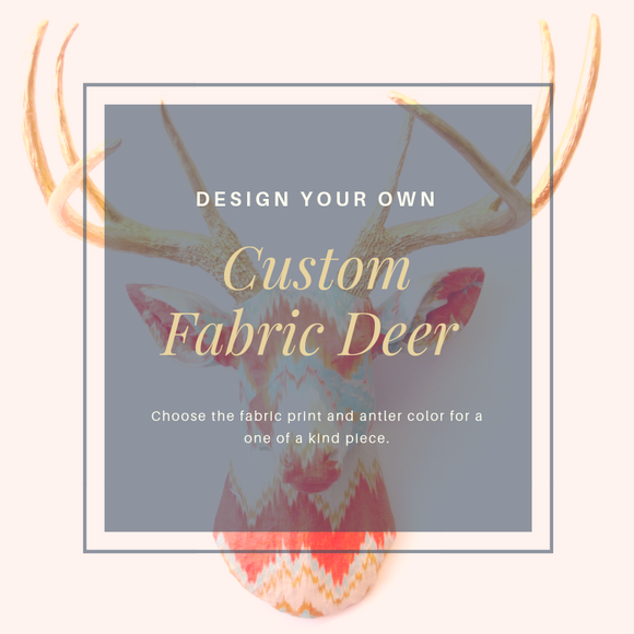 Custom Fabric Deer Head Art Wall Decor