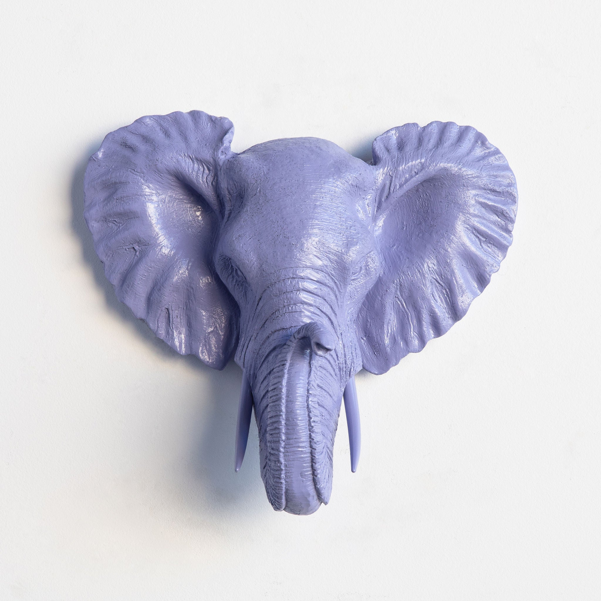 Faux Small Elephant Wall Mount // Lavender