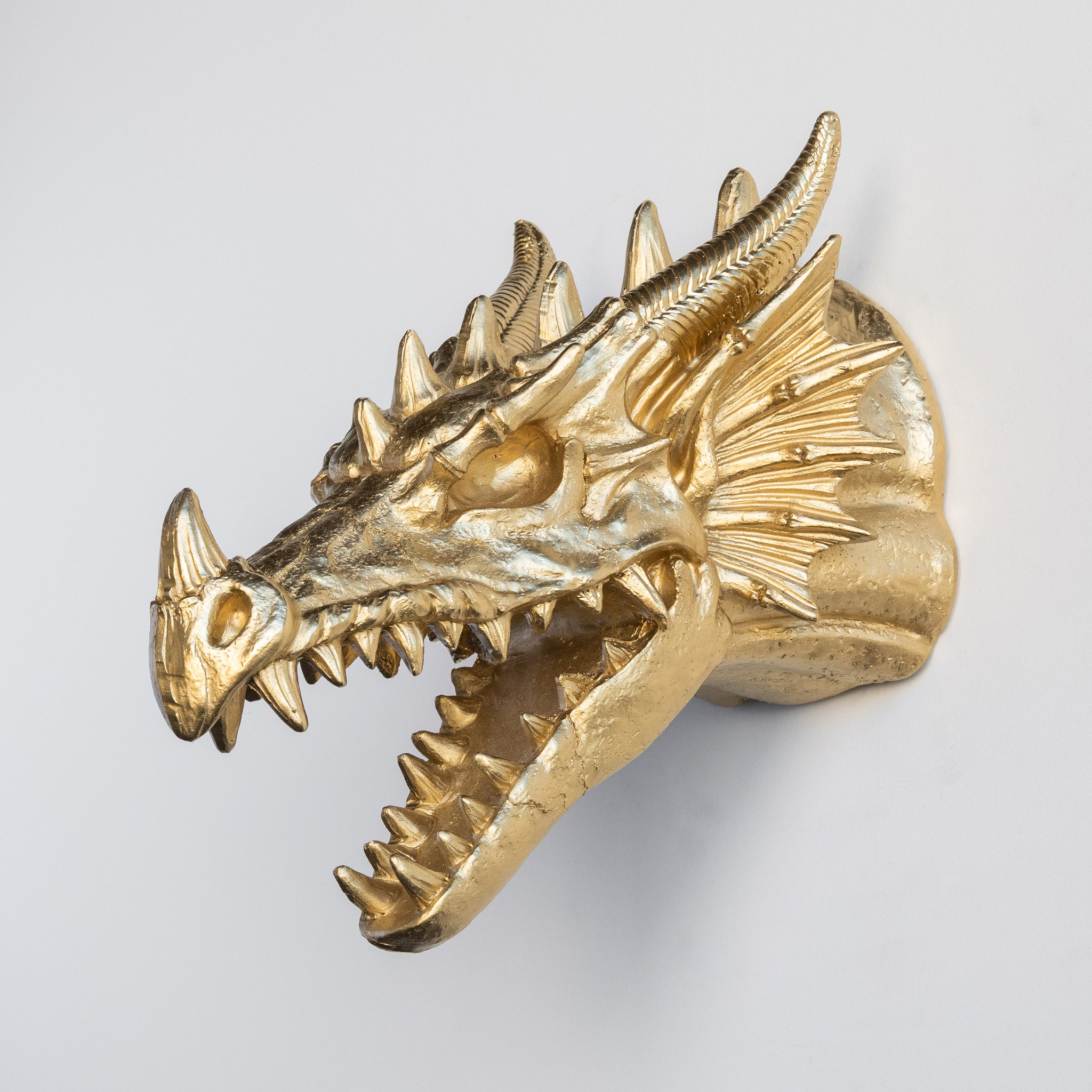 Faux Dragon Skull Mount // Gold