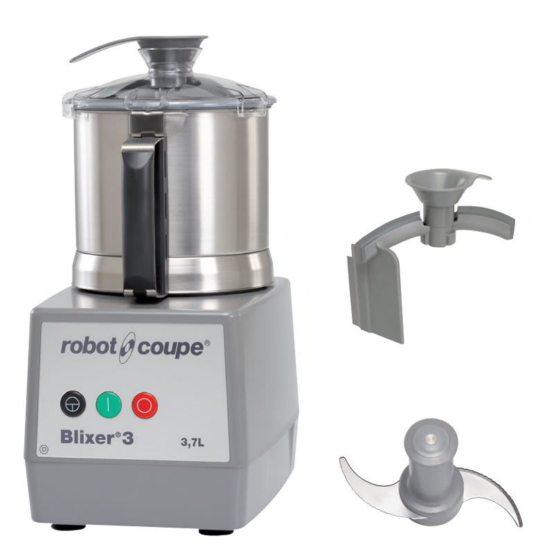 Robot Coupe BLIXER3 Vertical Commercial Blender Mixer w/ 3 1/2 qt Capacity & 1 Speed, Stainless