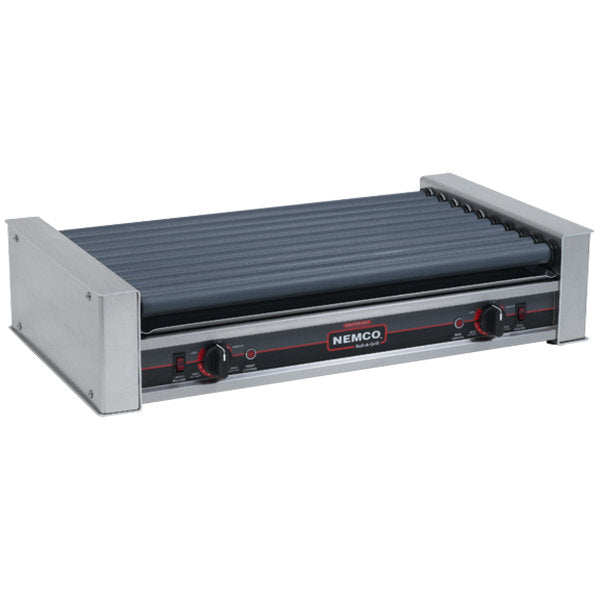 Nemco 8036SX Hot Dog Roller Grill with GripsIt Non-Stick Coating - 36 Hot Dog Capacity (120V)