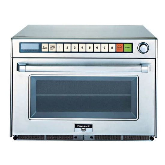 Panasonic NE-2180 (2) Pan Microwave Steamer - Countertop, Programmable, Sonic Steamer, 208v/1ph