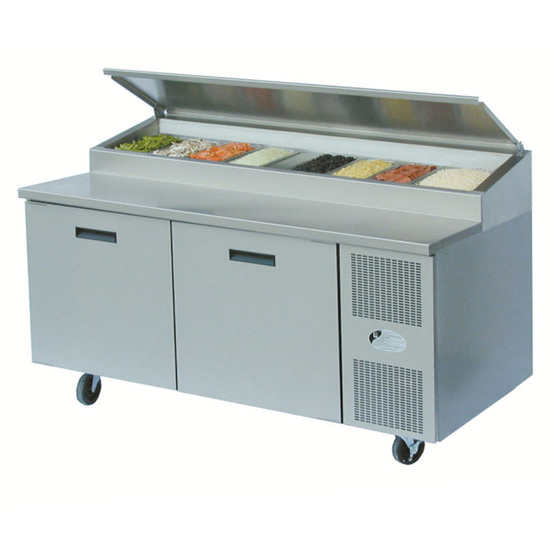 "Randell 8268N-290 68"" Pizza Prep Table w/ Refrigerated Base, 115v"