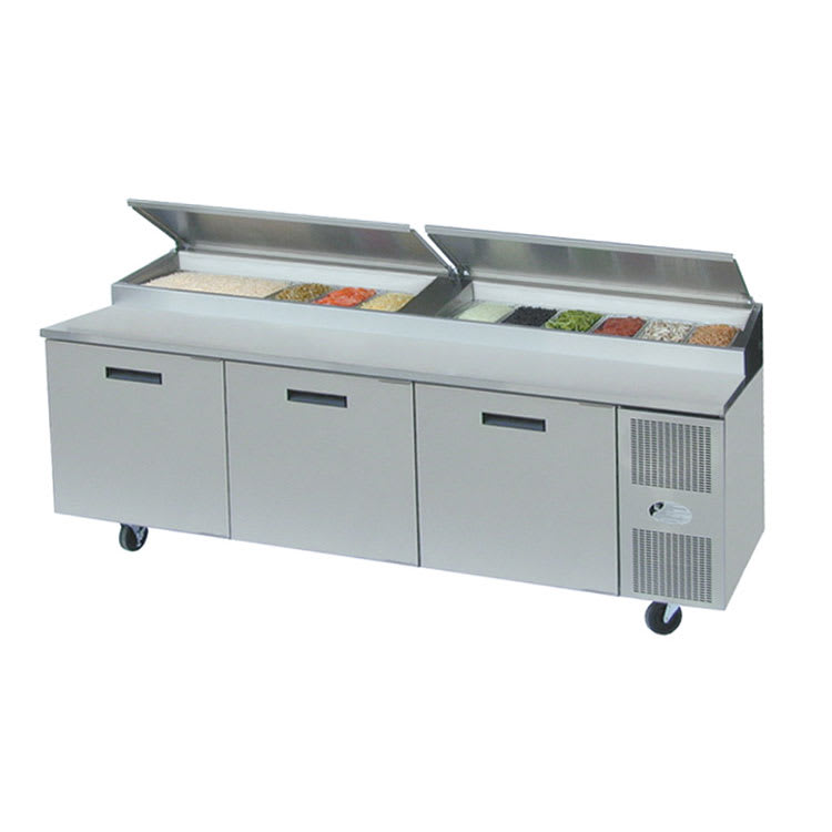 "Randell 8395N-290 95"" Pizza Prep Table w/ Refrigerated Base, 115v"