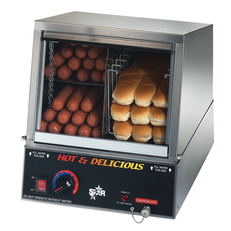 Star Hot Dog Steamer - 35SSA