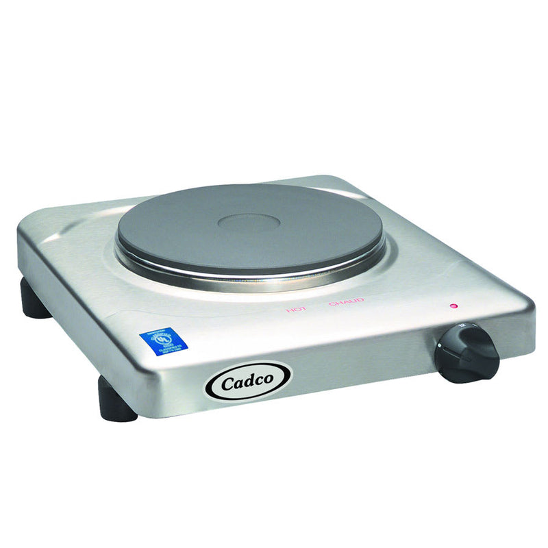 "Cadco KR-S2 11 1/2"" Electric Hotplate w/ (1) Burner & Infinite Controls, 120v"