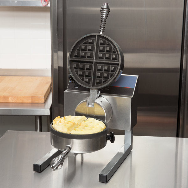 Nemco 7020A-S SilverStone Non-Stick Belgian Waffle Maker with Removable Grids - 120V