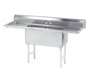 Advance Tabco Two Compartment Sink - FC-2-2424-24RL-X