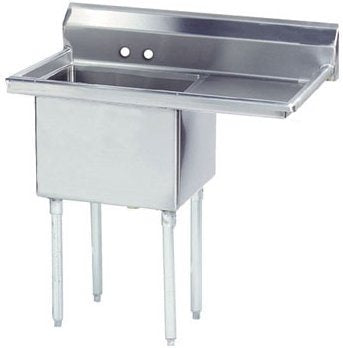 Advance Tabco One Compartment Sinks - with and without drainboard - FE-1-1812-X series