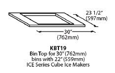 Ice-O-Matic Bin Top - For 22 inch cuber w/ 30 inch bin - KBT19