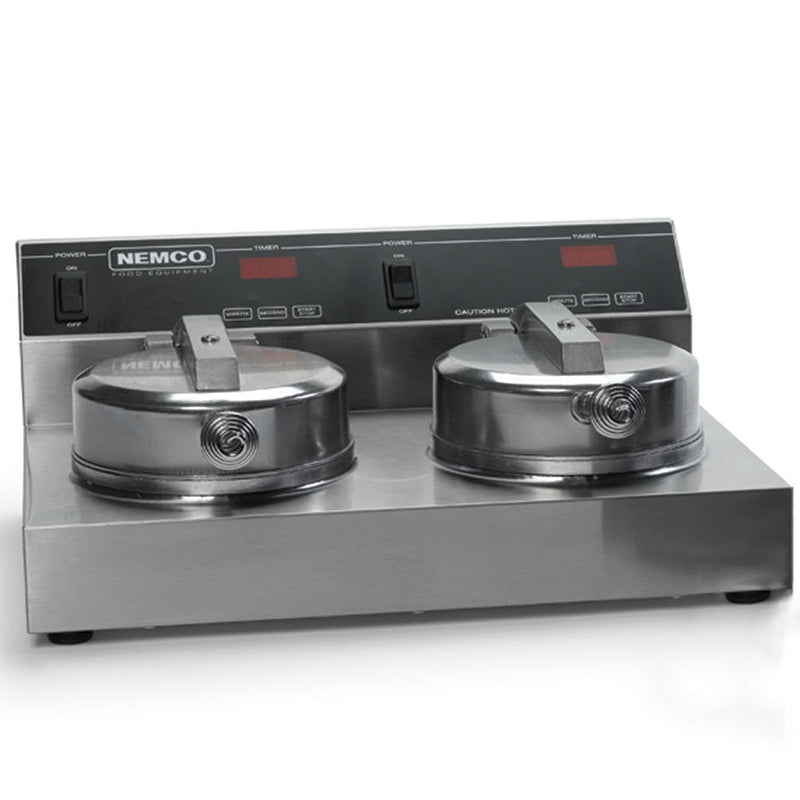 Nemco 7000A-2 Double Classic American Waffle Maker w/ Cast Aluminum Grids, 1780W