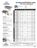 Advance Tabco Three Conpartment Sink - FC-3-1818
