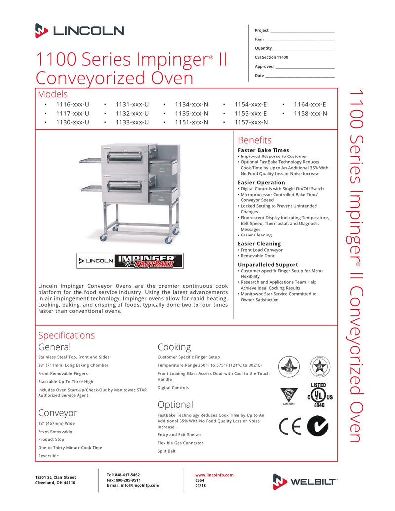 Lincoln Electric Conveyor Oven - 1132-000-U