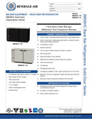 Beverage Air Back Bar Refrigerated Cabinet - BB58HC-1-B