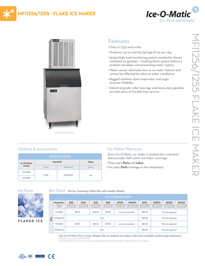 Ice-O-Matic Ice Maker - 1054lbs per day - MFI1256R