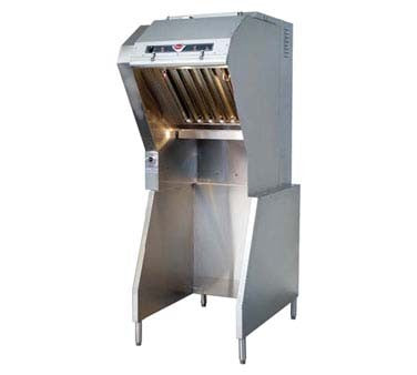 "Wells WVU-26 - Universal Ventless Hood, 26"" cooking zone, 3-stage filtration"