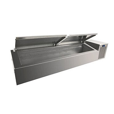 "Randell CR9060-290 - Refrigerated Condiment Rail, 60"" L, 18"" D, 20-1/4"" H, NSF 7"