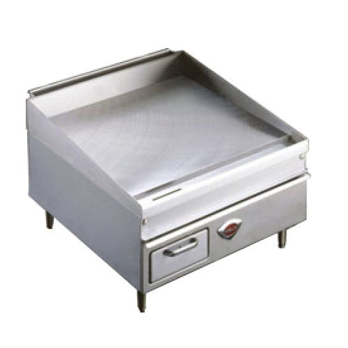 "Wells 2436G 36"" x 25"" Stainless Steel Gas Countertop Griddle - 75000 BTU"