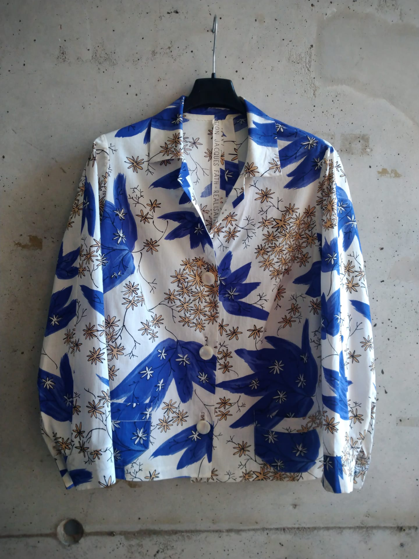 Handmade shirt in Jacques Fath fabric